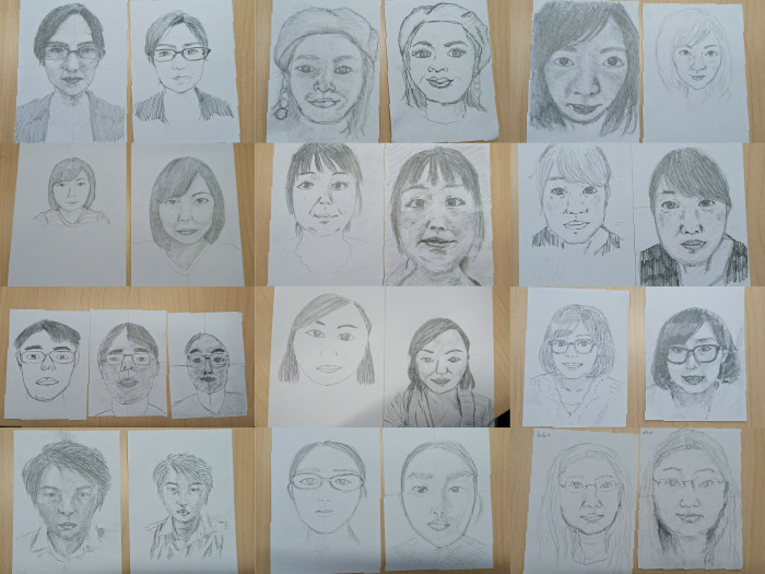 お絵かき勉強会開催!簡単なコツを元に鉛筆自画像を描きました